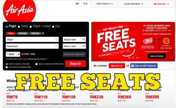 Ada Promosi Tiket Free Seats AirAsia 5 Jun 2017