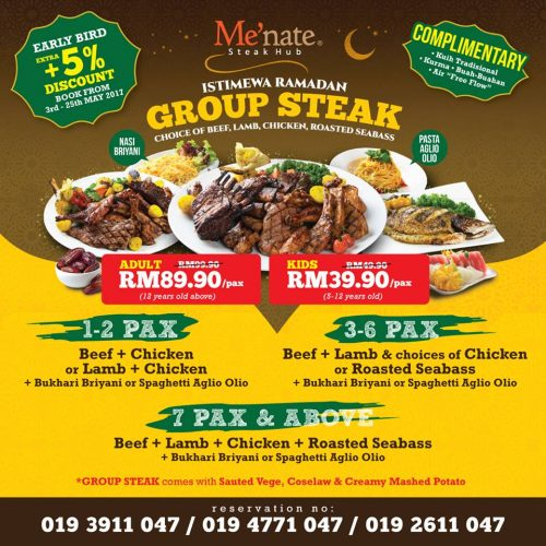 Review Berbuka Puasa Di Menate Steak Hub Pakej Group Steak