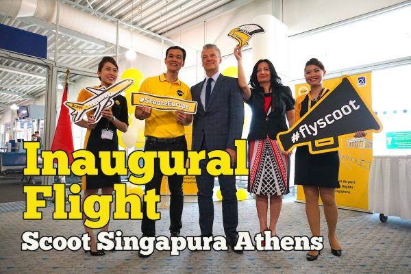 Scoot Inaugural Flight Ke Athens Greece Dari Singapura