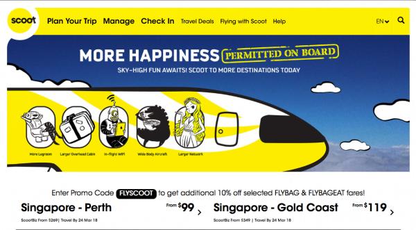 Promosi Harga Tiket Murah FlyScoot Ke Destinasi Seluruh Dunia