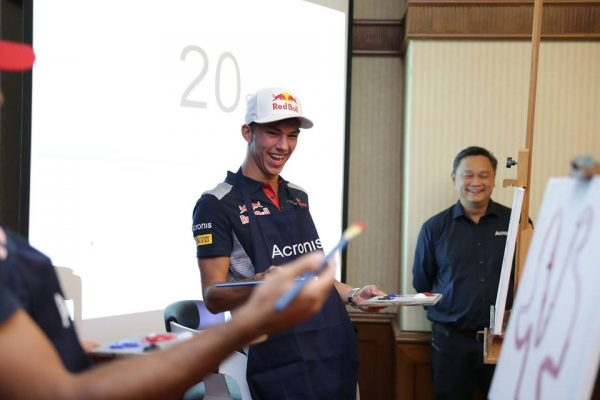 Acronis and Scuderia Toro Rosso Drivers Meet And Greet #F1nale