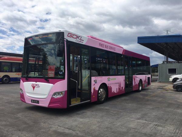 GoKL Purple Line Bas Percuma Kuala Lumpur Untuk Semua