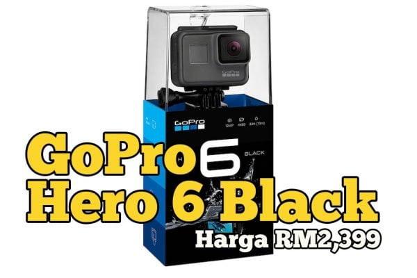 GoPro HERO6 Black Edition Kini Di Malaysia Harga RM2,399