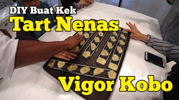 Vigor Kobo Pineapple Cake Dream Factory DIY Buat Tart Nenas Taiwan