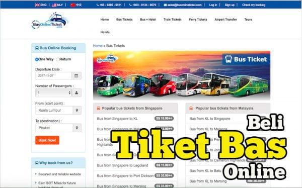Kat Mana Nak Beli Tiket Bas Keretapi Secara Online BusOnlineTicket