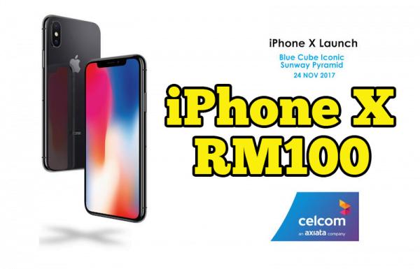 Miliki iPhone X Dengan Hanya RM100 Pakej iPhone X Celcom Blue Cube