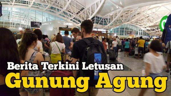 Berita Terkini Letusan Gunung Agung Bali Lapangan Terbang Denpasar