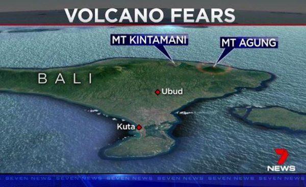 Letusan Gunung Agung Bali Lapangan Terbang Denpasar