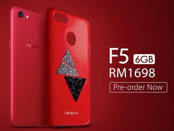 Pelancaran Smartphone Oppo F5 Warna Merah