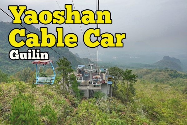 Yaoshan Mountain Scenic Resort Guilin Pengalaman Naik Cable Car