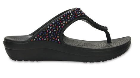 Crocs Sloane Embellished Flip Beaded