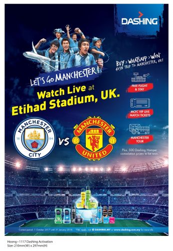 Peraduan Dashing Lets Go Manchester 2018 Saksikan Perlawanan Man City vs Man Utd