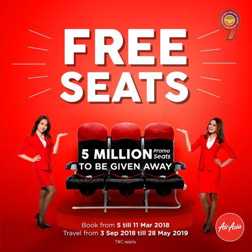 Free Seats Airasia Mac 2018 Ada 5 Juta Tempat Duduk Percuma