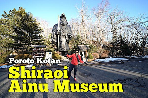 Shiraoi Ainu Museum Poroto Kotan Hokkaido Jepun Musim Sejuk