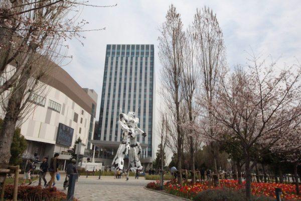 Gundam Diver City Plaza Tokyo Ada Robot Gergasi Unicorn Gundam