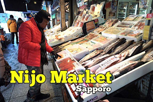 Nijo Market Sapporo Pasar Ikan Jual Menu Makanan Laut Yang Murah