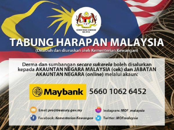 Tabung Harapan Malaysia Terima RM7,075,508.79 Kurang 24 Jam Di Lancarkan