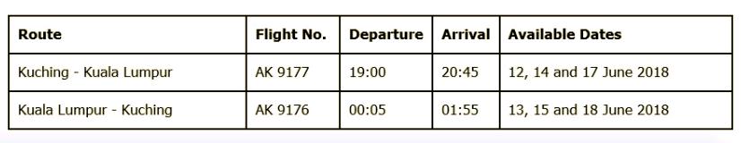 promosi tiket airasia balik raya rm99
