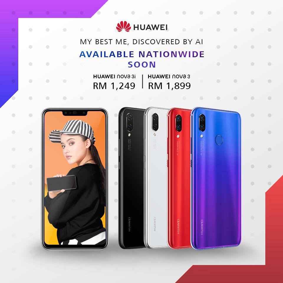 huawei nova 3 dan nova 3i Malaysia