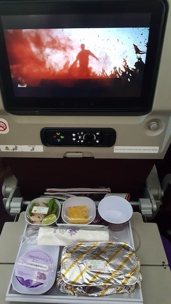 in flight entertainmaent Thai Airways