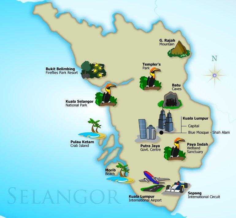 Tempat Aktiviti Menarik Di Negeri Selangor