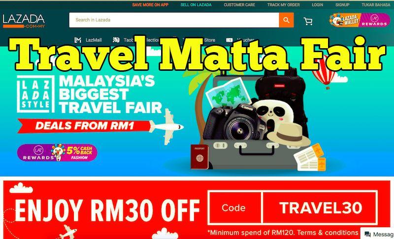promosi travel matta fair di Lazada Online