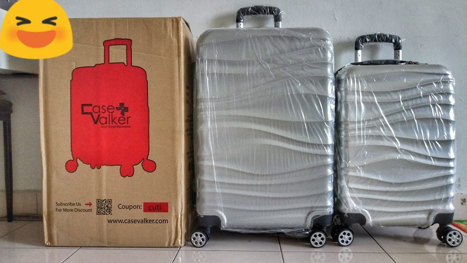 promosi travel matta fair di Lazada Online Travel Luggage Case Valker