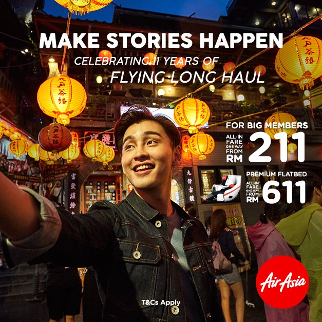 AirAsia X 11 Years Of Flying Long Laul Contest For AABC