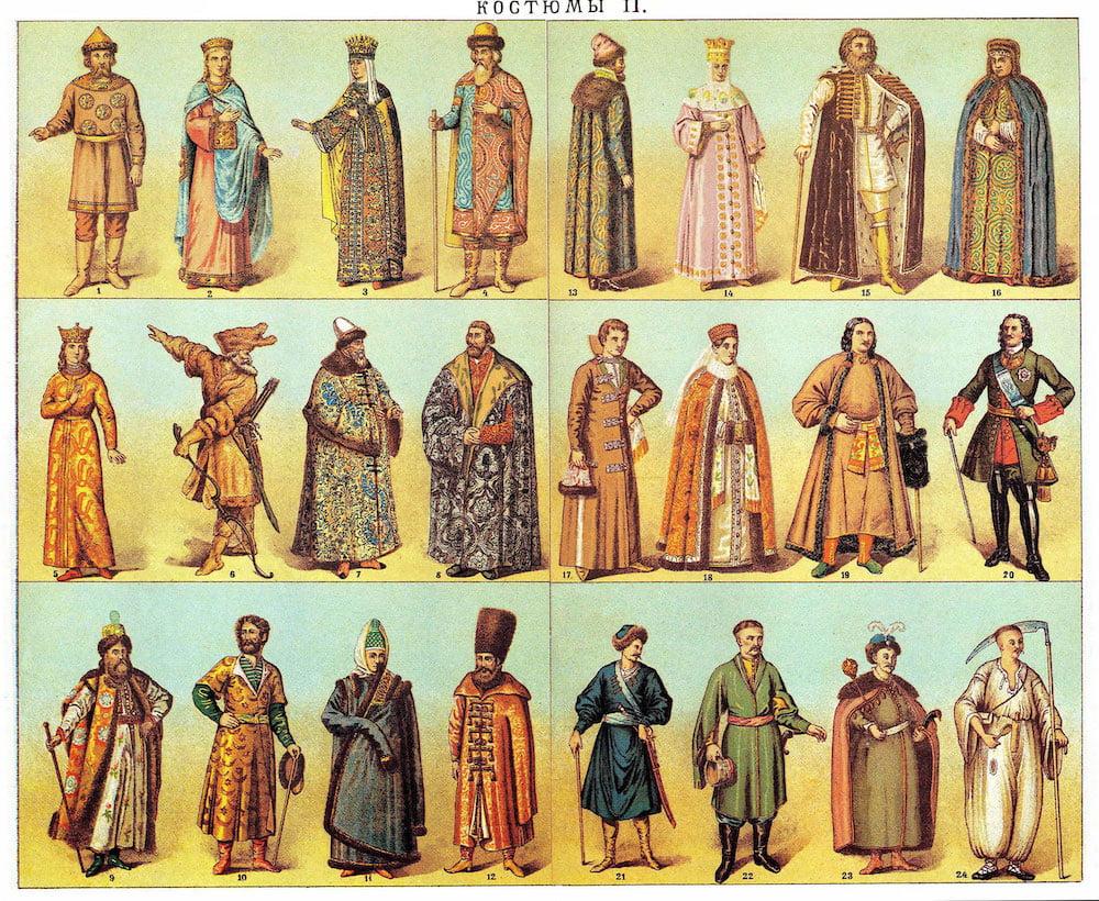 Pakaian Tradisional Orang Russia
