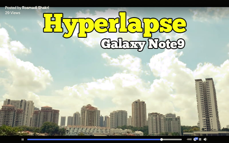 rekod video hyperlapse galaxy note9