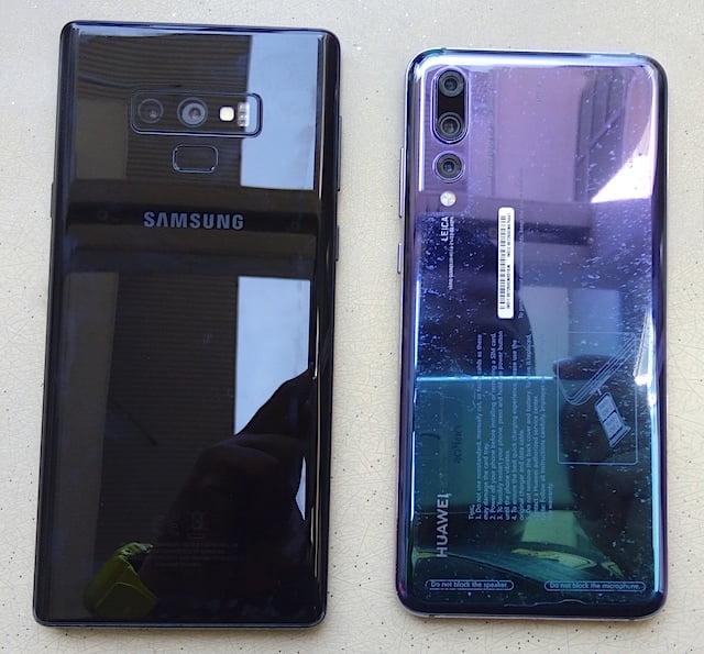 Beza Galaxy Note9 vs Huawei Mate P20 Pro