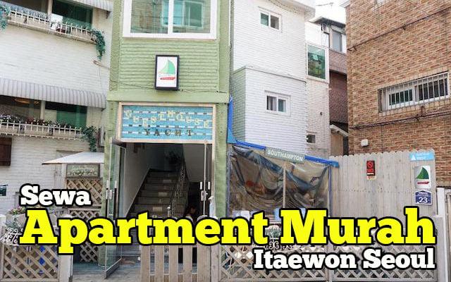 sewa apartment murah di itaewon seoul