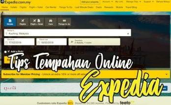 Tips Harga Murah Tempahan Online di Expedia Malaysia