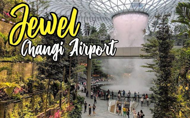 Air Terjun Jewel Changi International Airport Singapura
