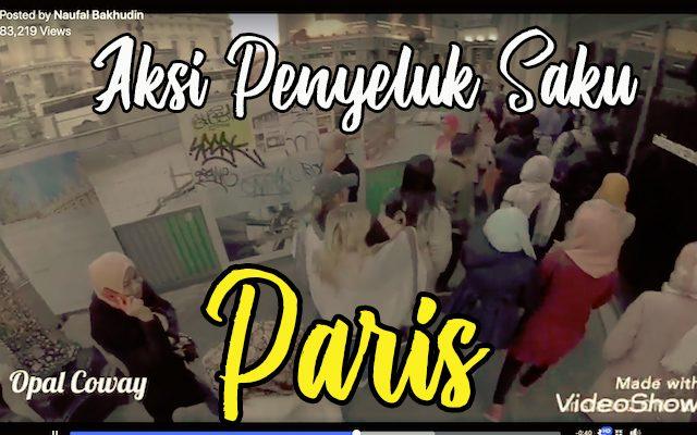 video aksi penyeluk saku di Paris