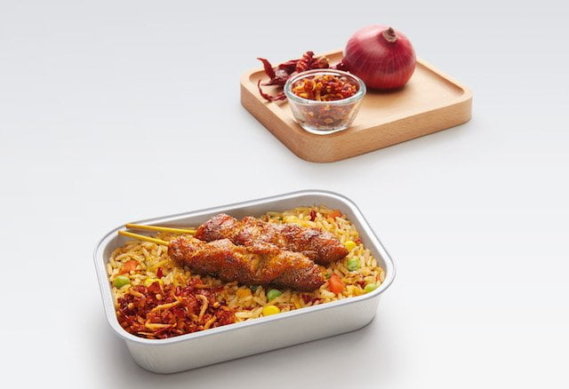 AirAsia Superior Fried Rice with Chicken Satay-Midres