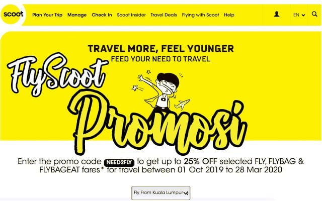 Promosi Tiket Murah FlyScoot NEED2FLY April 2019