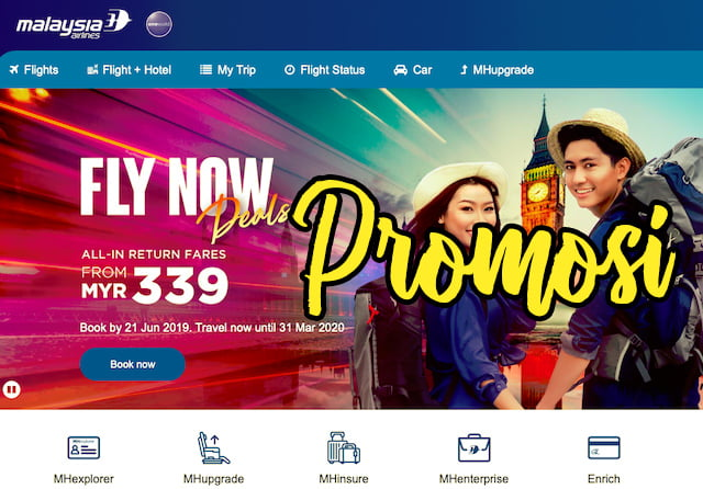 Promosi Fly Now Deals Malaysia Airlines 2019