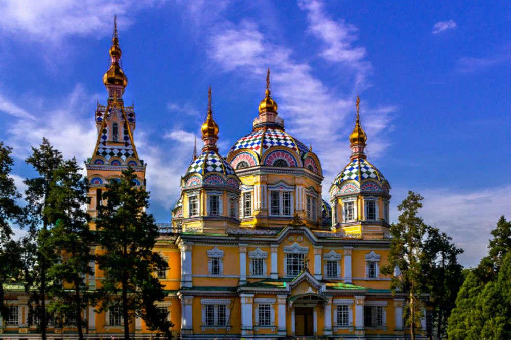 beautiful kazakhstan building