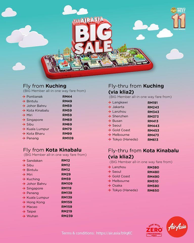 Harga Tiket AirAsia Big Sale Dari KLIA2