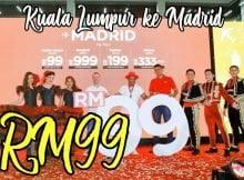 Tiket Kuala Lumpur Madrid Cuma RM99 Beli Di Website AirAsia