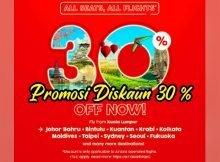 Promosi Tiket Murah AirAsia Diskaun 30 Peratus 01