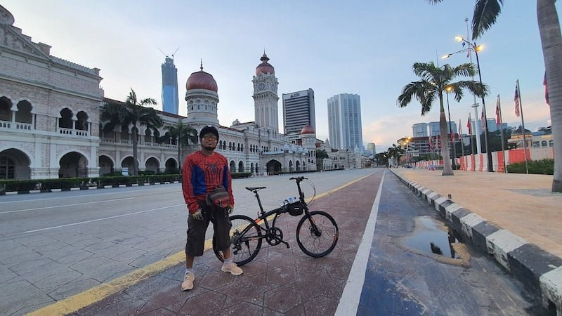 Kayuh Basikal Lipat Mendaki Mayor Hill Bukit Tunku KL 01
