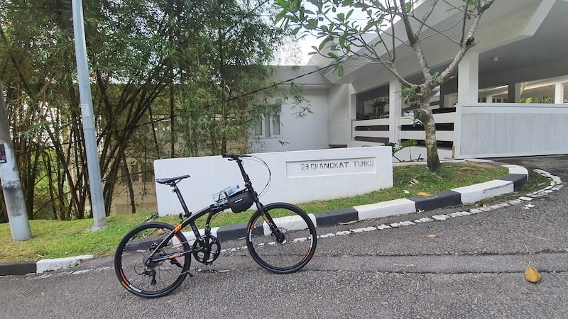 Kayuh Basikal Lipat Mendaki Mayor Hill Bukit Tunku KL 02