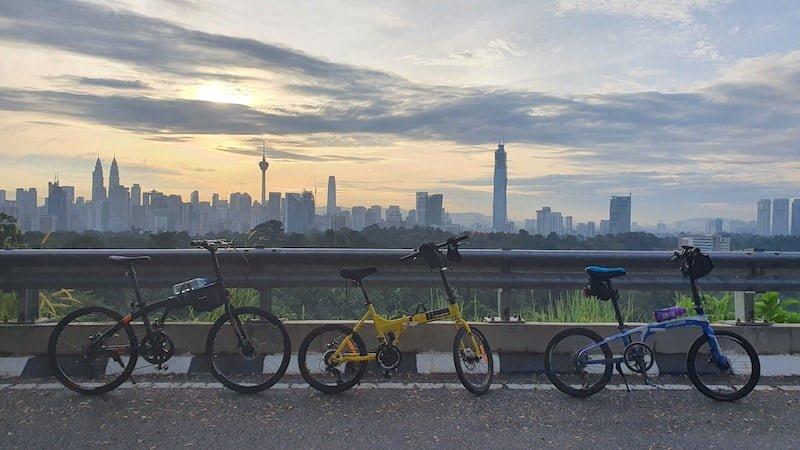 Kayuh Basikal Lipat Mendaki Mayor Hill Bukit Tunku KL 03
