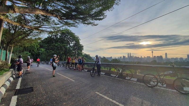 Kayuh Basikal Lipat Mendaki Mayor Hill Bukit Tunku KL 05