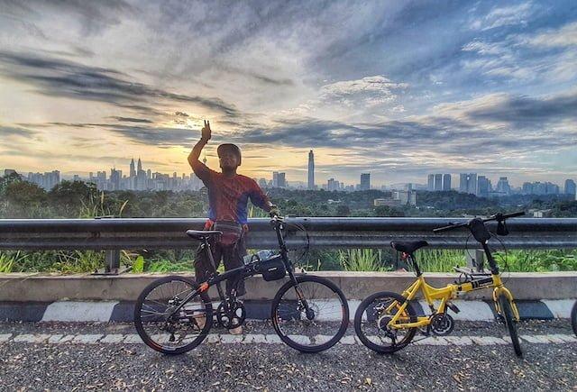 Kayuh Basikal Lipat Mendaki Mayor Hill Bukit Tunku KL 06