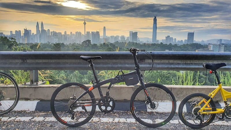 Pengalaman Kayuh Basikal Lipat Mendaki Mayor Hill Bukit Tunku KL 08