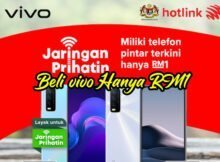 Telefon Pintar vivo Hanya RM1 Dengan Jaringan Prihatin Melalui Hotlink