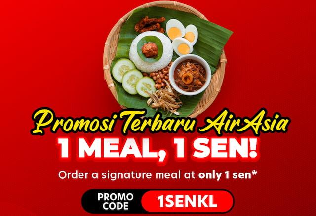 1 Sen Meal Campaign AirAsia Food Promosi Terbaru Wajib Beli 01